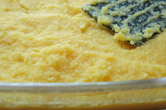Polenta meal, mustard vinaigrette, cooking, how-to, recipe, vegan cooking