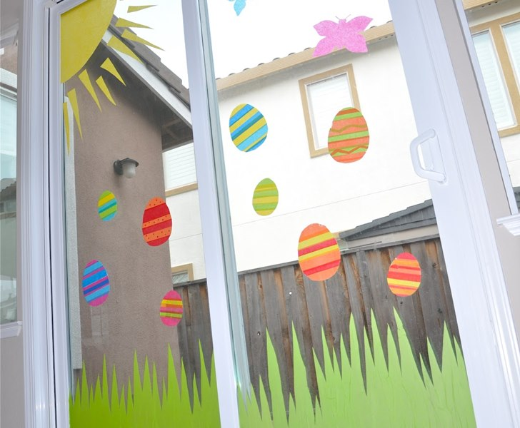 Eco Friendly Easter Crafts Tissue Paper Window Art Inhabitots