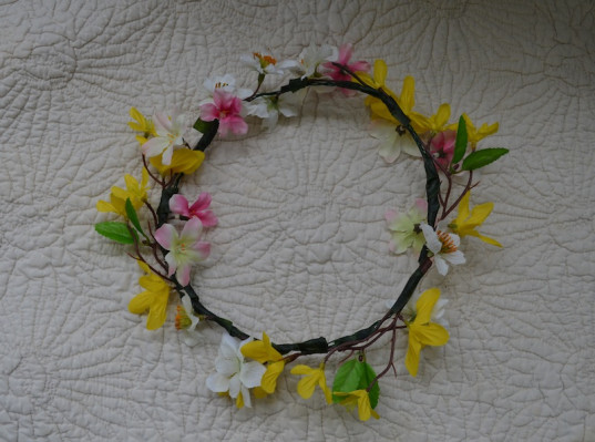 how to, diy crafts, craft, floral garland