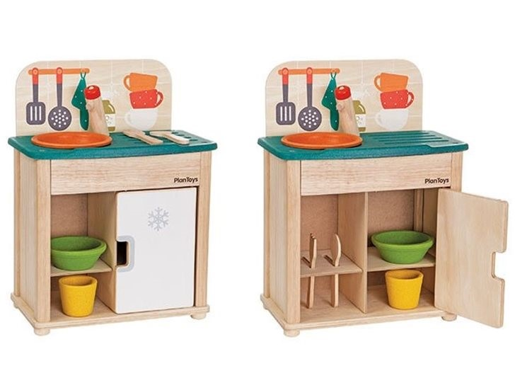 PlanToys Debuts Their Redesigned Play Kitchen & Play Sink & Fridge ...