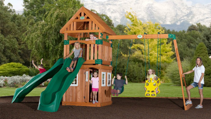 Eco Playground Equipment Backyard Discovery Inhabitots - Backyard playground equipment