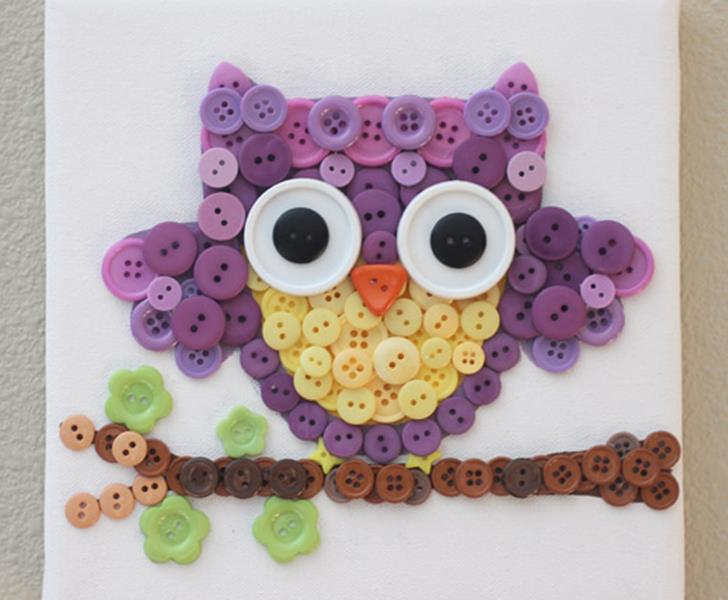 15 button crafts for kids inhabitots