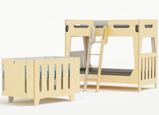 Sparrow Crib Toddler Bed Conversion Kit In Birch And
