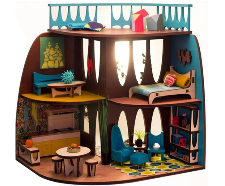 The ARC Flatpack Dollhouse is Designed in Mid-Century Modern Style ...