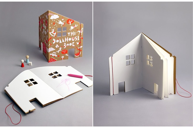 The Dollhouse Book Features Blank Pages For Kids To Design A Dream