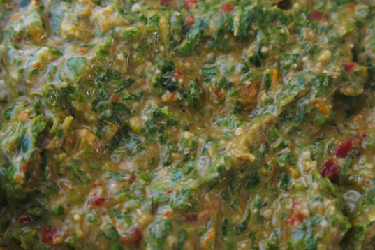 healthy recipe, how-to, vegan cooking, sundried tomatoes, pesto, rucola, walnuts