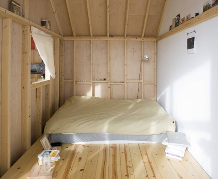 Habitat Cabin Beds : Cabin in a loft indoor treehouse inhabitots