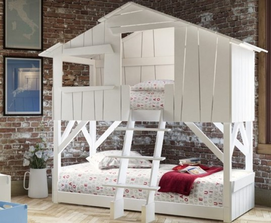 bunk beds, eco loft bed, Green Furniture, green kids, sibling rooms, space saving bed, sustainable bed, playful bed, mathy by bols, play house bed, hut bed, hut loft bed, playhouse bed, camper bed, caravan bed, kids beds, childs bed