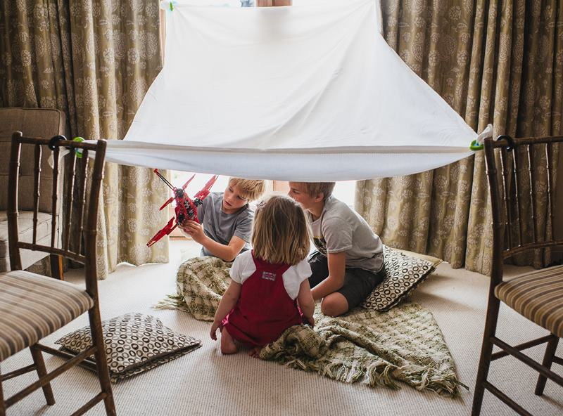 Kids Can Build Creative Forts Indoors Or Outside With Pl