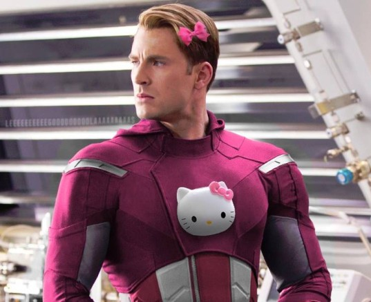 blue for boys, feminist issues, gender colors, gender issues, pink & blue, pink superheroes, hello kitty superheroes, pink batman, pink superman, pink heroes, hello kitty, pink for girls, photoshop