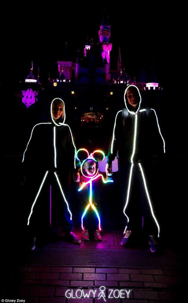 costumes led strip lighting glows in the dark and when worn by a toddler appears as if a miniature stick figure is running around which is arguably - Halloween Led Costume