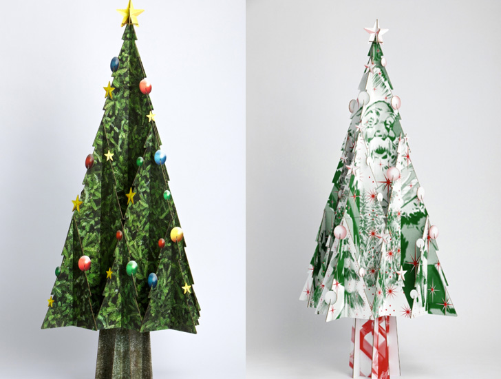 21 beautiful faux & DIY Christmas trees to brighten the season ...