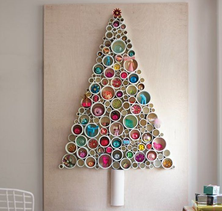 21 Beautiful Faux Diy Christmas Trees To Brighten The