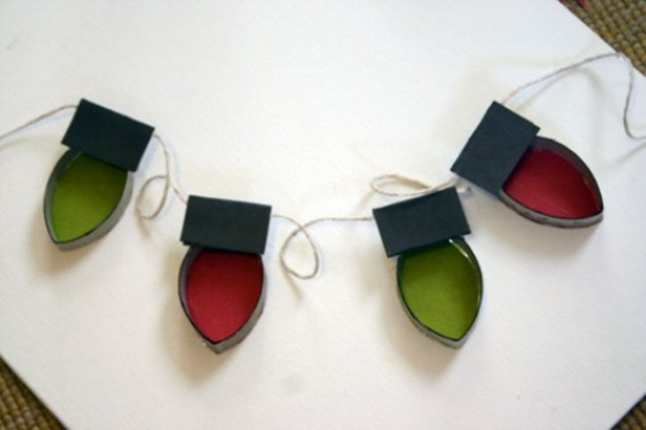 Recycled Christmas Crafts Toilet Paper Roll Christmas Lights
