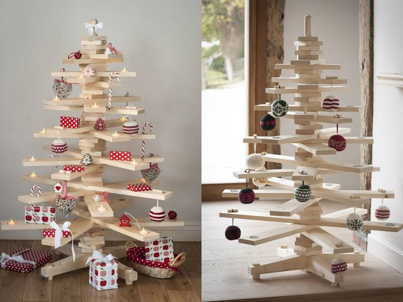 Why Garland >> 21 beautiful faux & DIY Christmas trees to brighten the season | Inhabitots