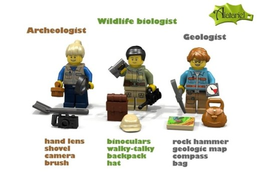 Alatariel, eco play, female LEGO minifigs, female LEGO toys, green kids, green play, lego, lego academics, LEGO female scientist minifig set