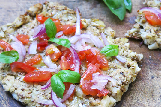 cauliflower crust pizza, gluten-free pizza, grains-free pizza, vegan pizza, cauliflower pizza base, cauliflower dough,