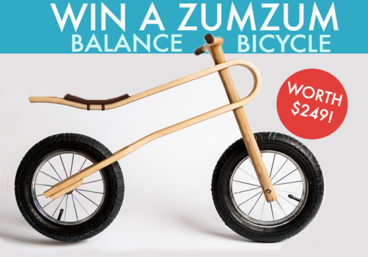 win a balance bike, inhabitots giveaway, inhabitots pinterest contest, zumzum balance bike, balance bike giveaway, green kids, eco kids, green design for kids, zumzum giveaway
