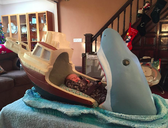 Perhaps This Jaws Themed Crib Isn T Exactly What Sleep Experts Had In Mind When They Suggested Creating A Calm Comforting Environment For Babies