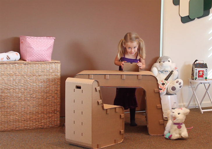 Made From Sustainable Folded Cardboard, The Furniture Inspires Kids To Build  And Create A ...