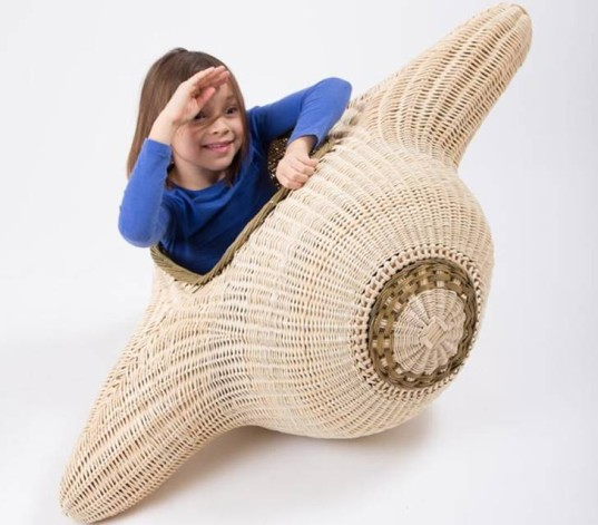 play with design, playwithdesign, kids designs, wicker furniture, eco-furniture, green kids, play objects, kids design exhibit, wicker kids objects