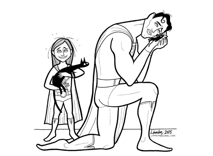 Mom illustrates  Super-Soft Heroes  coloring book to show boys ...