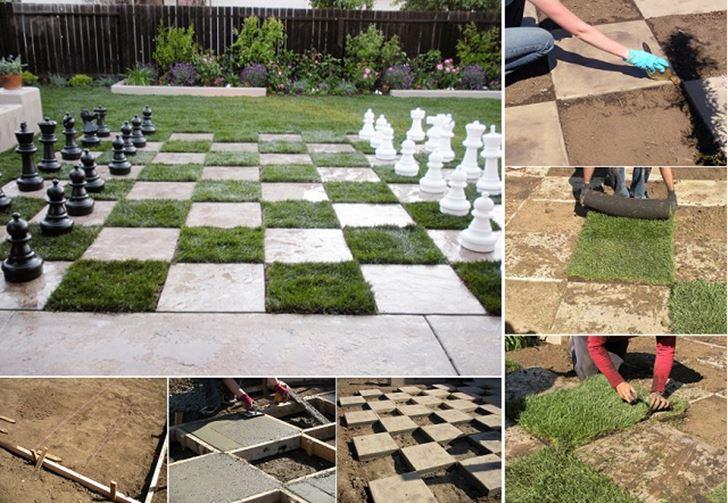 DIY yard game - Chessboard-Patio | Inhabitots
