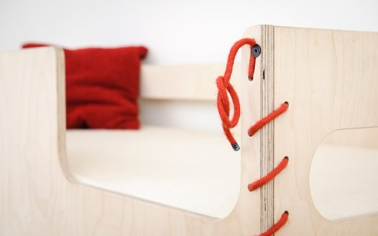 FLORAintheSKY, birch bed, birch bunk bed, birch bunkbed, bunkbeds, Perludi, Sustainable Furniture, sustainable kids, wool bed