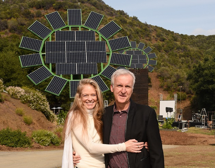 James Cameron Gifts His Wife Five Giant Solar Sun Flowers