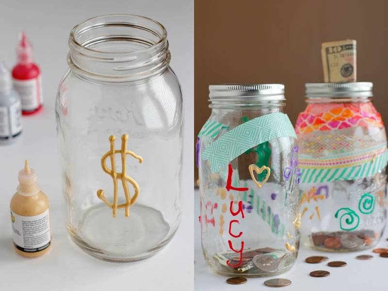 16 kid friendly recycled mason jar crafts and projects for Crafts to make with glass jars