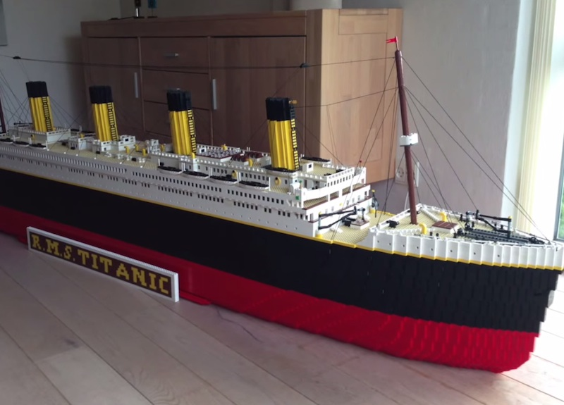 Boy builds amazingly detailed LEGO Titanic using 30,000 bricks ...