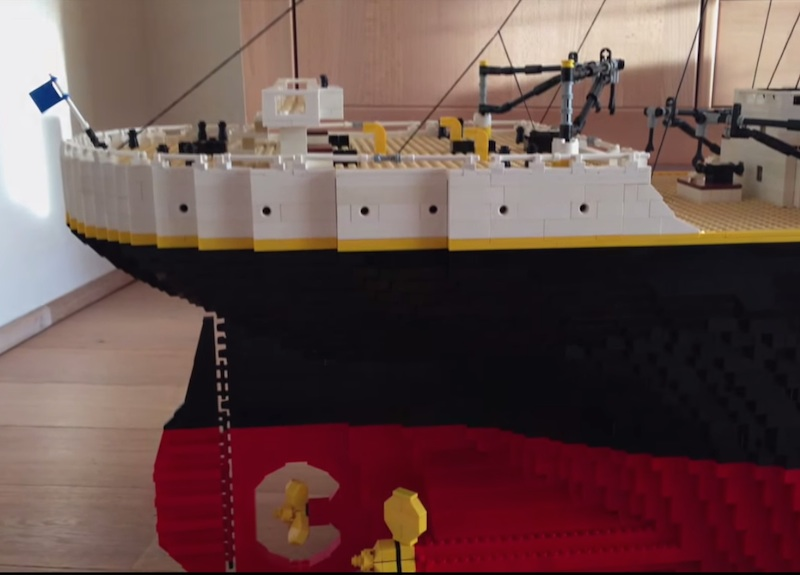 Boy Builds Amazingly Detailed Lego Titanic Using 30000 Bricks