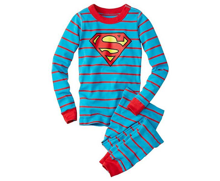 organic cotton batman pjs. 1. Wonder Woman Long John Pajamas In Organic  Cotton. 2. Superman ... c958085b9