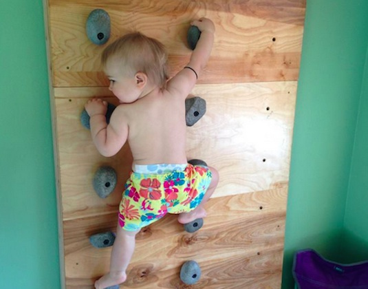 rock climbing, parenting, kids health, rock climbing baby, Ellie Farmer