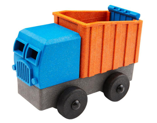 Luke's Toy Factory, Luke's trucks, truck, toy truck, toys, green toys, eco toys, green toys for kids, sustainable toys, eco-friendly toys, fire truck, made in the USA, wood composite plastic, 3D printing