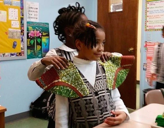 black girls sew, craft, sewing camp, eco play