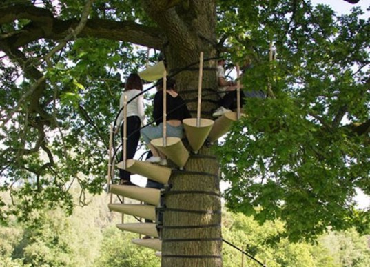 canopystair, tree staircase, tree climbing, green design