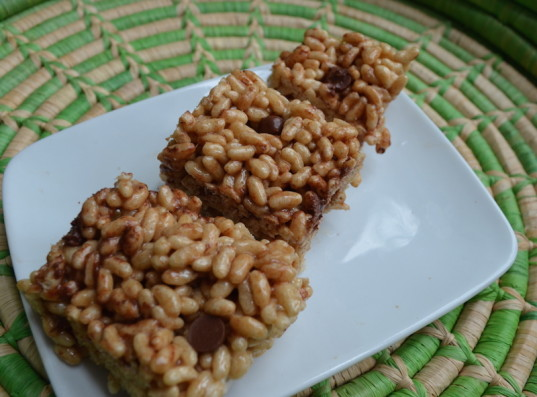 rice crispy bars, vegan dessert, no bake dessert, food