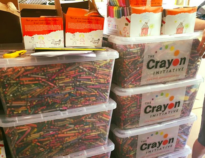 The Crayon Initiative Recycles Discarded Crayons Into New
