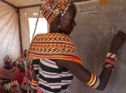 mobile classroom, education, girls' education, empowering girls