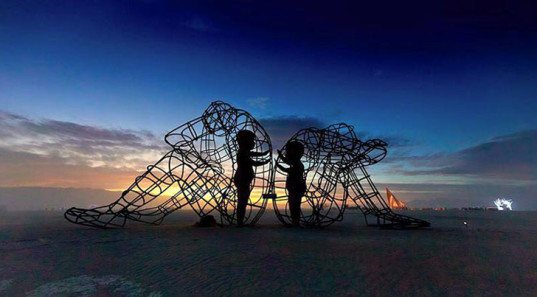 green design, eco design, sustainable design, Burning Man, Alexander Milov, inner child sculpture