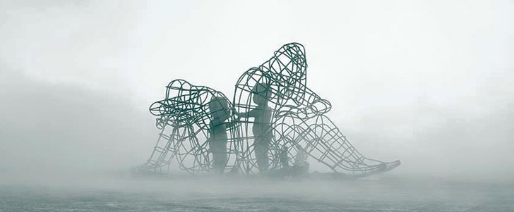 thought provoking sculpture at burning man pays tribute to every
