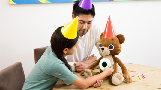 Jerry the Bear, Sproutel, teddy bear, educational toy, interactive, smart toys, health, type 1 diabetes, food, nutrition, well-being, food allergies,