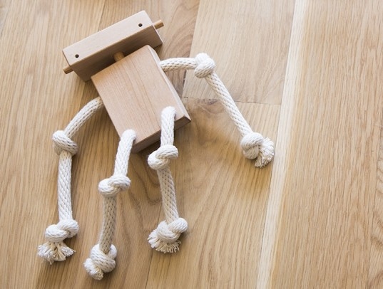robot monkey, rope toy, eco toy, green toy