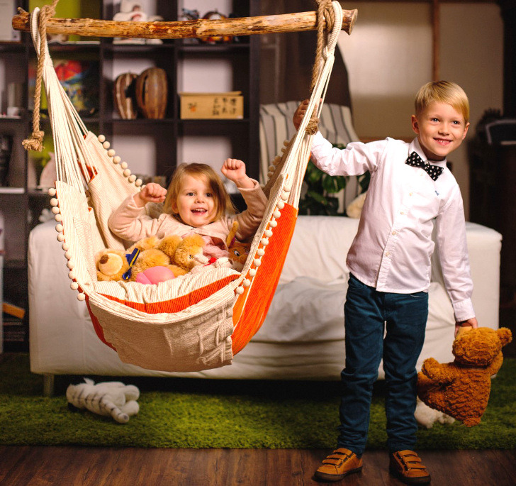 looking for a stylish reading nook or quiet time space for your child u0027s bedroom  this gorgeous hammock chair from etsy store chilloutchair may be just the     kids can hang out in style with a child sized chilloutchair      rh   inhabitat