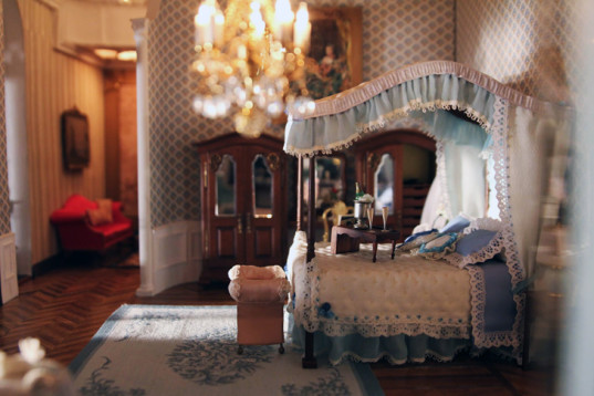 green design, eco design, sustainable design, The Shops at Columbus Circle, Astolat Dollhouse Castle, most expensive dollhouse in the world, miniature paintings, miniature books, miniature furniture