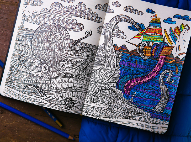 ColoringNotebook beckons adults to daydream and reduce stress while ...