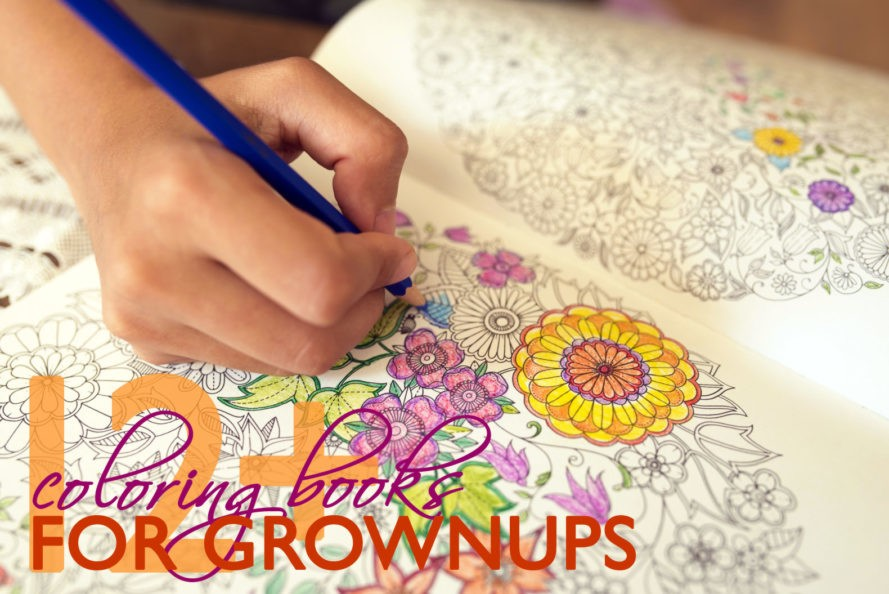 12 Inspiring Coloring Books For Grown Ups