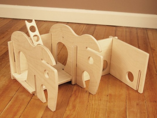 Wooden animal shaped dollhouses may be built in multiple for Flat pack muebles