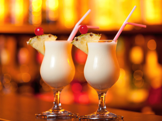 tropical drinks, S.A.D., beating the winter blues, food